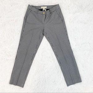 Michael Kors black/white gingham plaid pants